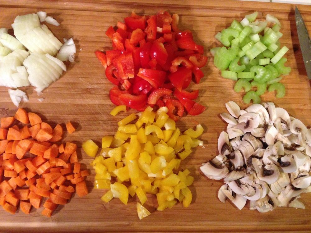 Gemüse für Männerquiche
