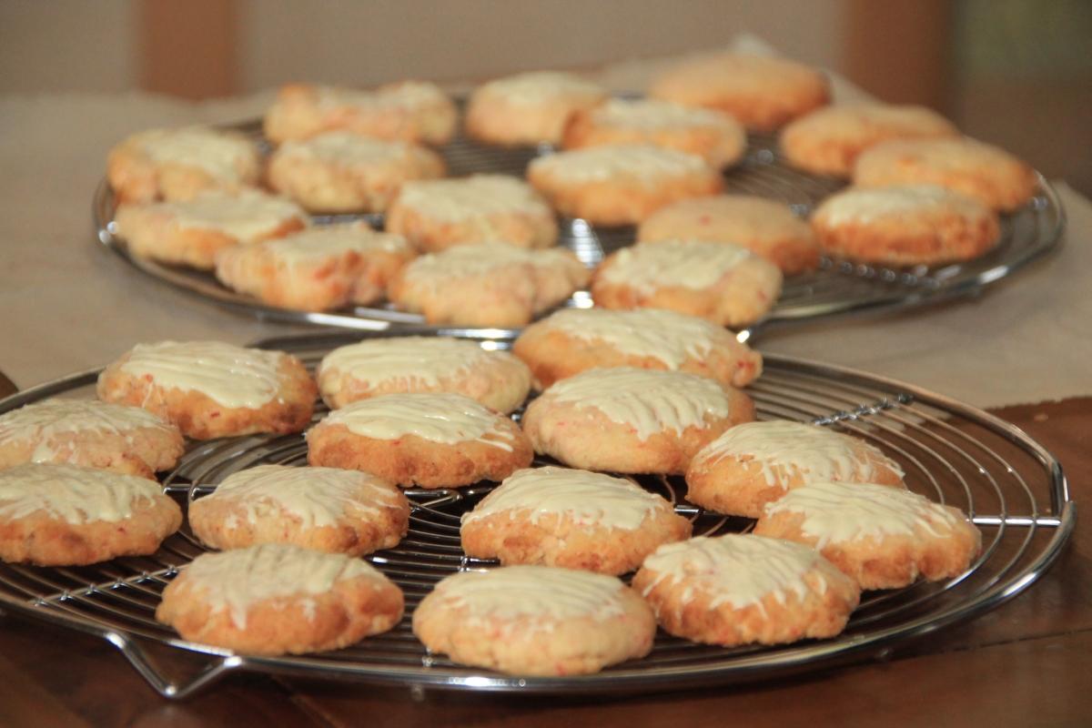 Kokosraspelüberschuss Teil 2: Kokos Frischkäse Cookies