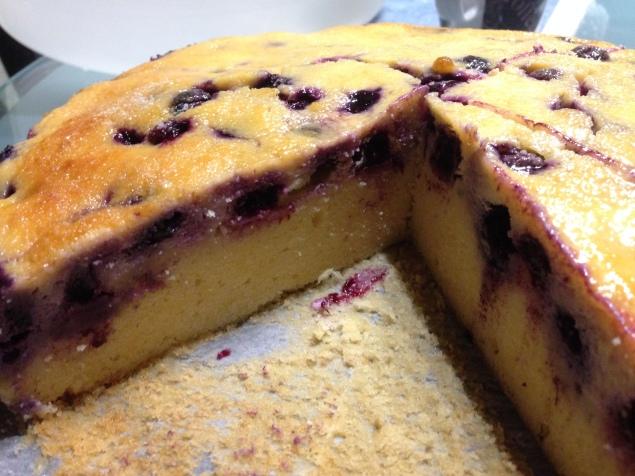 Blaubeer Marzipan Kuchen