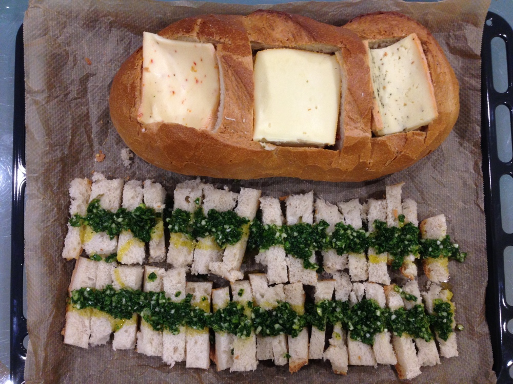 Käsebrot zu Silvester